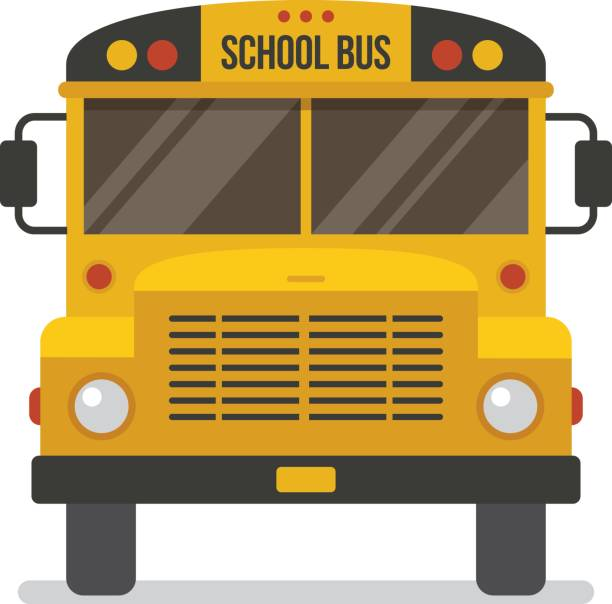 School Bus Front View Clipart.