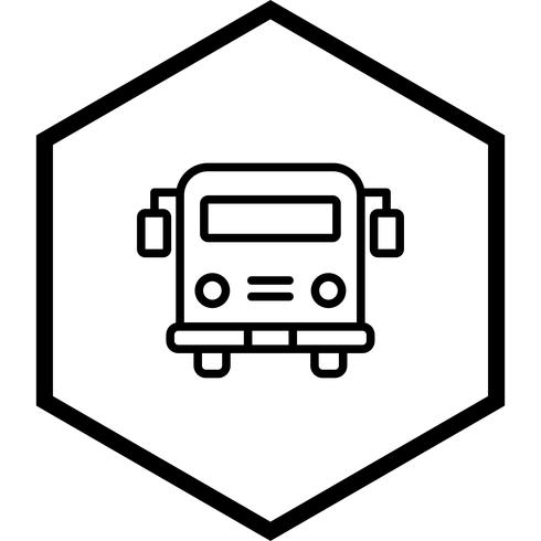 School bus Icon Design.