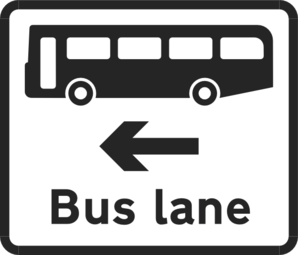 Bus Lane Sign Clip Art at Clker.com.