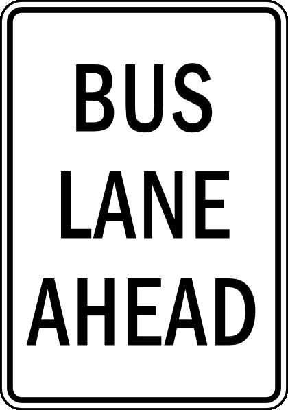 Bus Lane Ahead Clip Art at Clker.com.