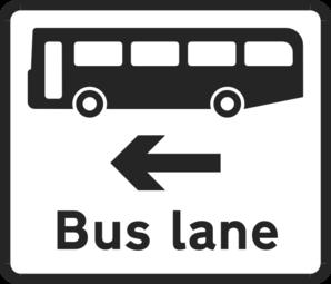 Bus Lane Sign Clip Art at Clker.com.