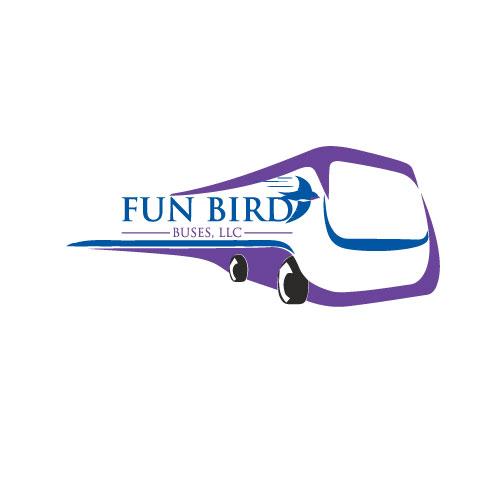 Fun Bird Buses, Limo/Party Bus Logo.