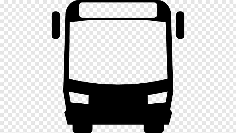 Black bus illustration, Airport bus Logo Public transport.