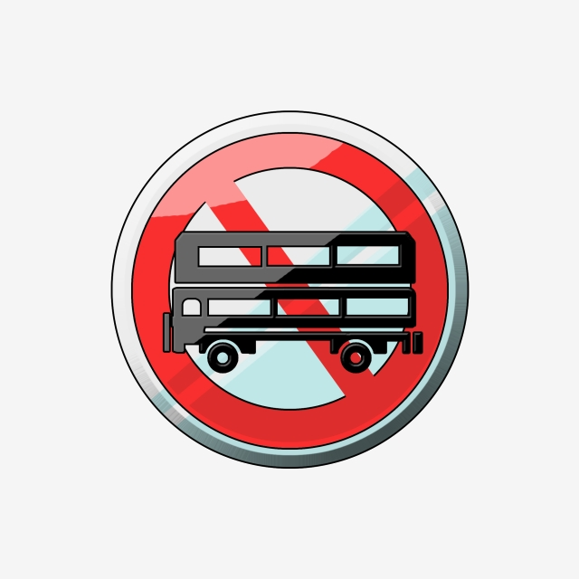 No Large Bus Pass Icon, Bus, No Access, Bus Icon PNG Transparent.