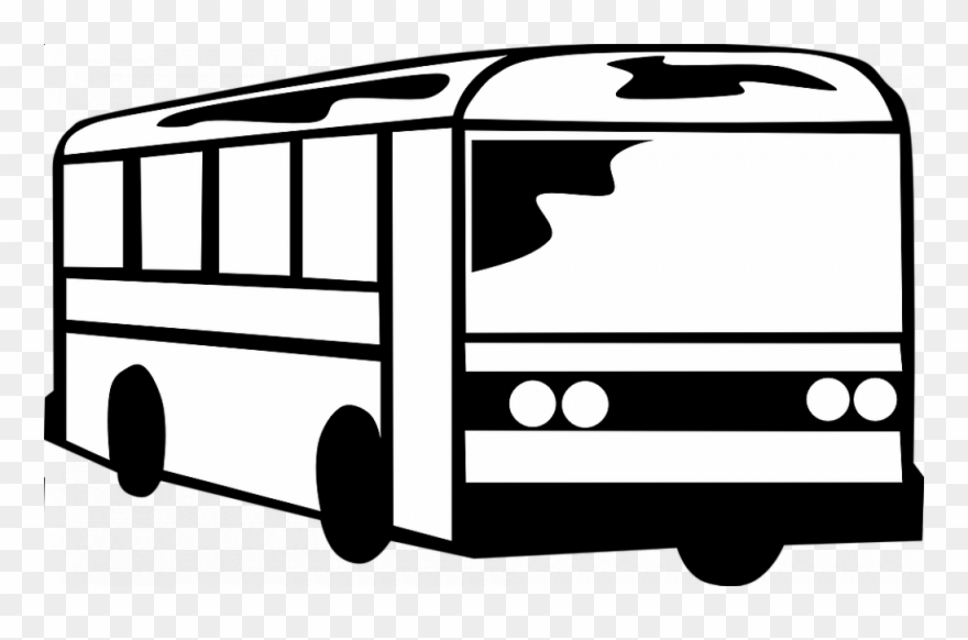 Clip Art Black And White Bus.