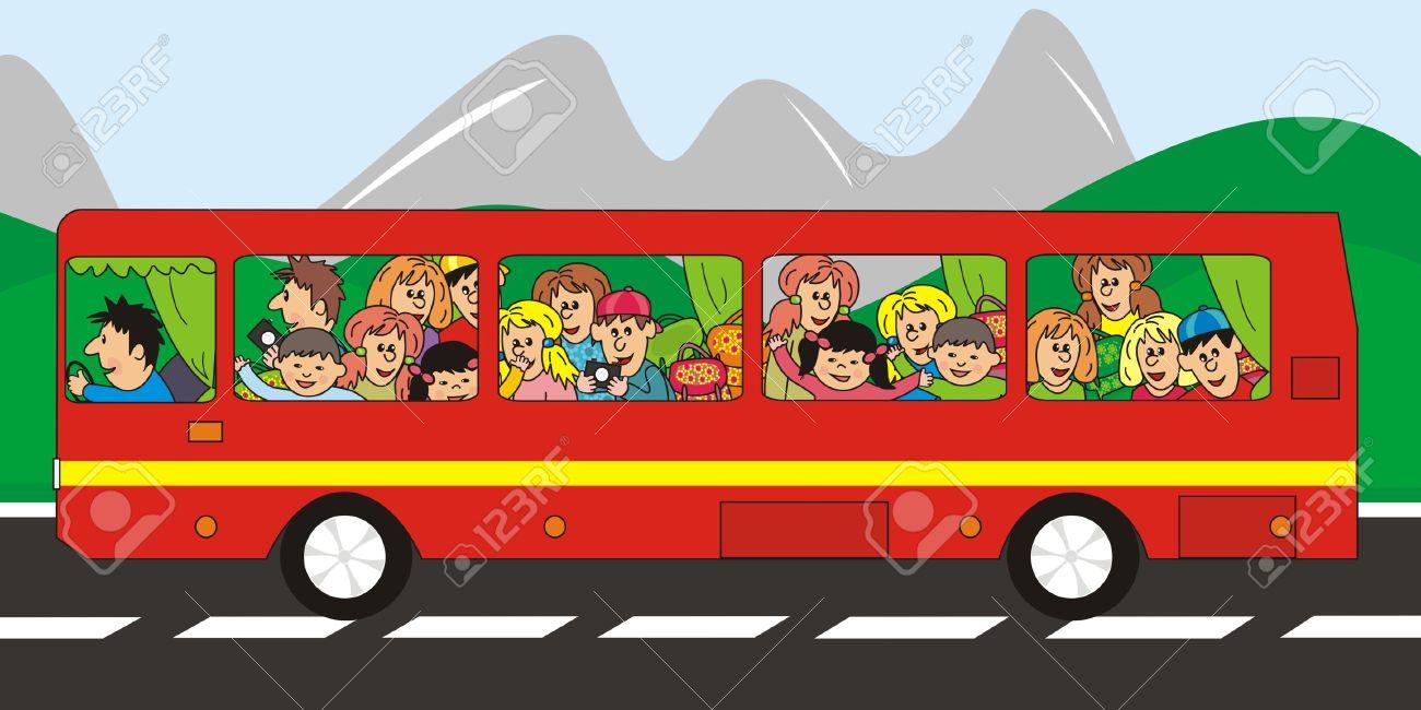 Clipart voyage bus.