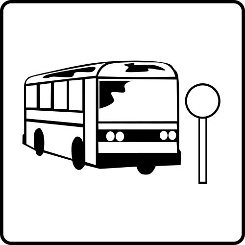 Bus Stop Sign Clip Art Bus.