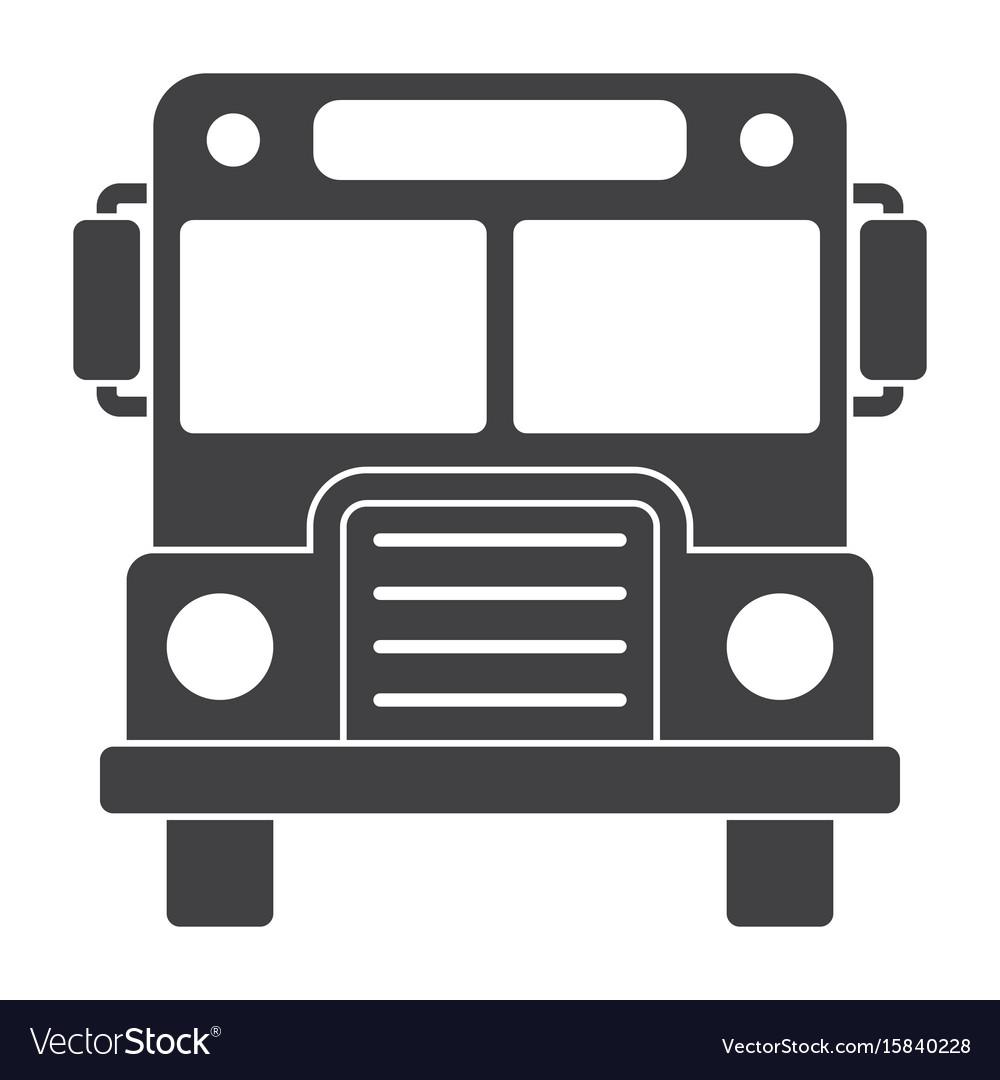School bus silhouette.