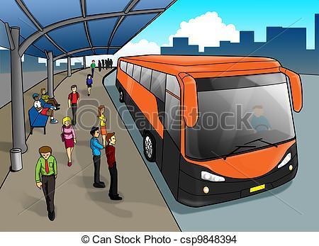Clipart bus station » Clipart Portal.