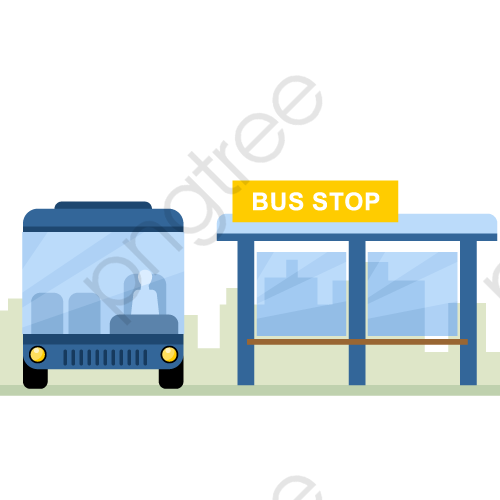 Vector Bus Station, Bus Vector, Bus Clipart, Bus PNG and Vector with.