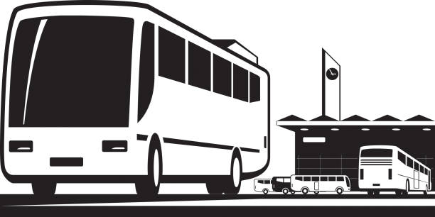 Best Bus Station Illustrations, Royalty.