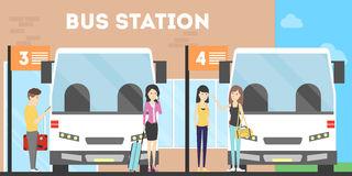 Bus Station Stock Illustrations.