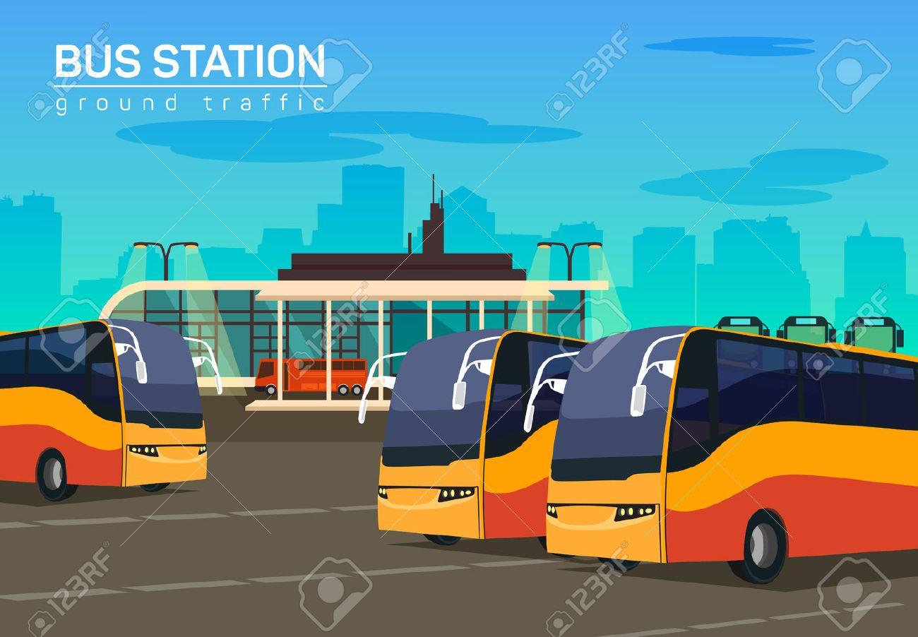 Bus terminal clipart 1 » Clipart Station.