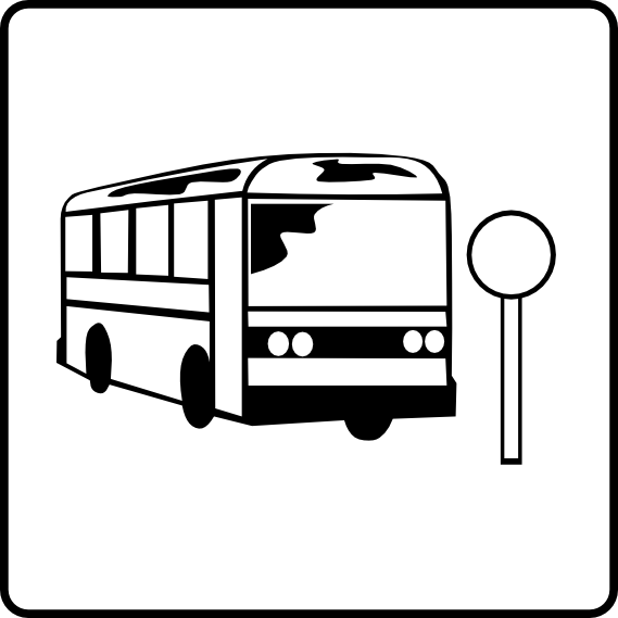 Bus Stop Sign Clipart.