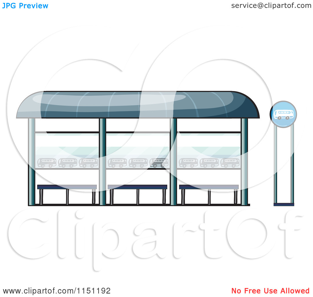 Clipart of a Bus Station.