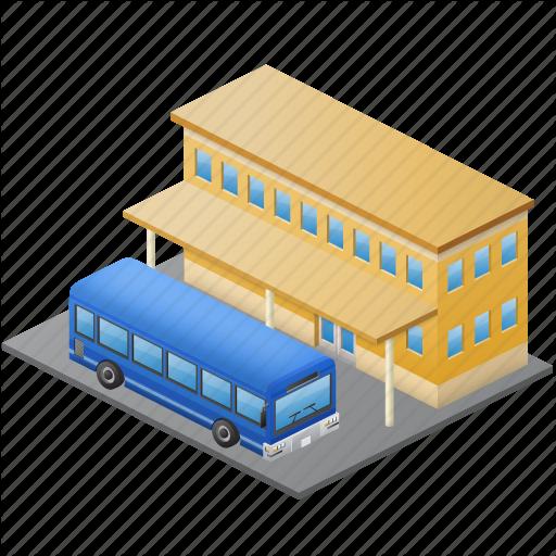 Bus, bus station, bus.