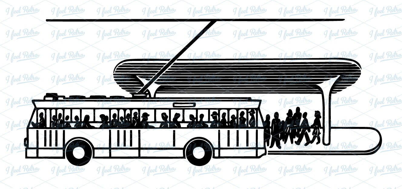 Bus station clipart.