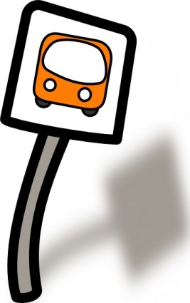Clipart bus stop sign.