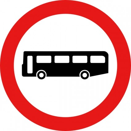 Clip Art Bus Stops Signs Clipart.