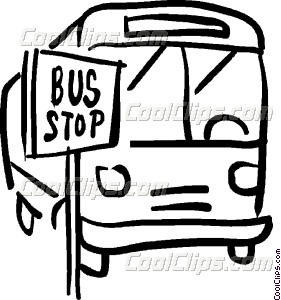 Bus Black And White Clipart.