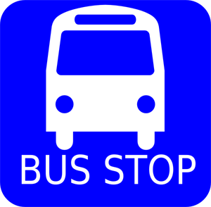 Blue Bus Stop PNG, SVG Clip art for Web.