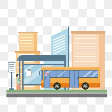 Bus Stop PNG Images.