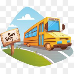 Bus Stop, Bus Vector, School Bus, Vector PNG and Vector with.