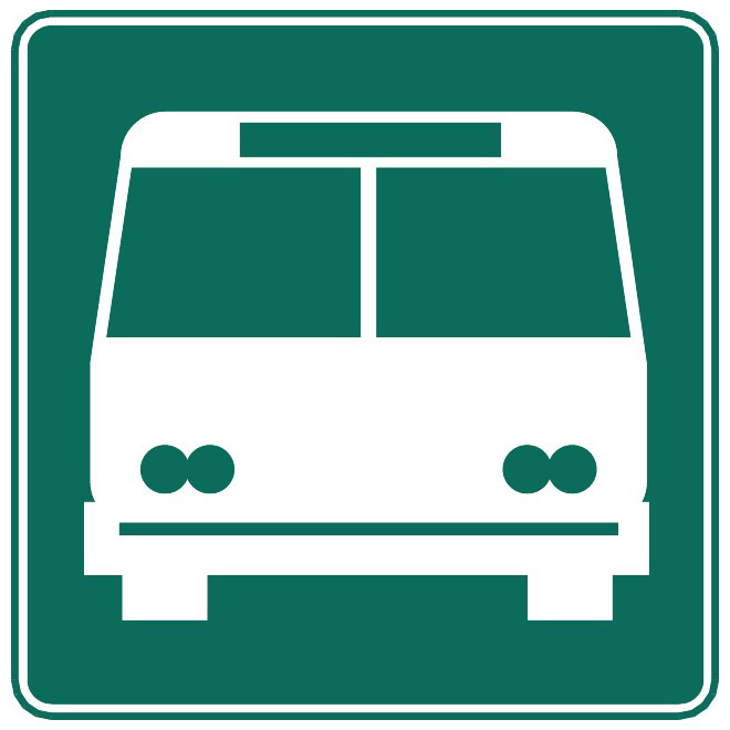Bus stop vector sign.