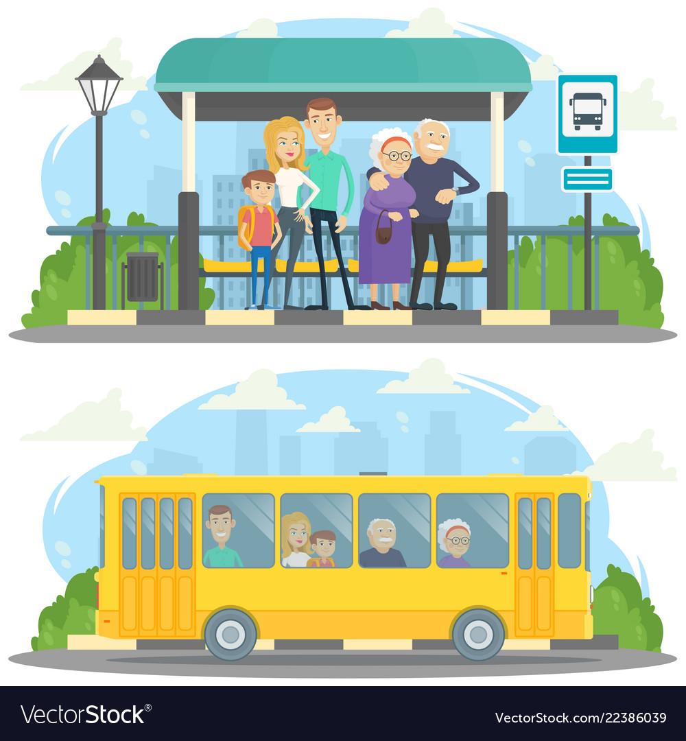 Bus station.