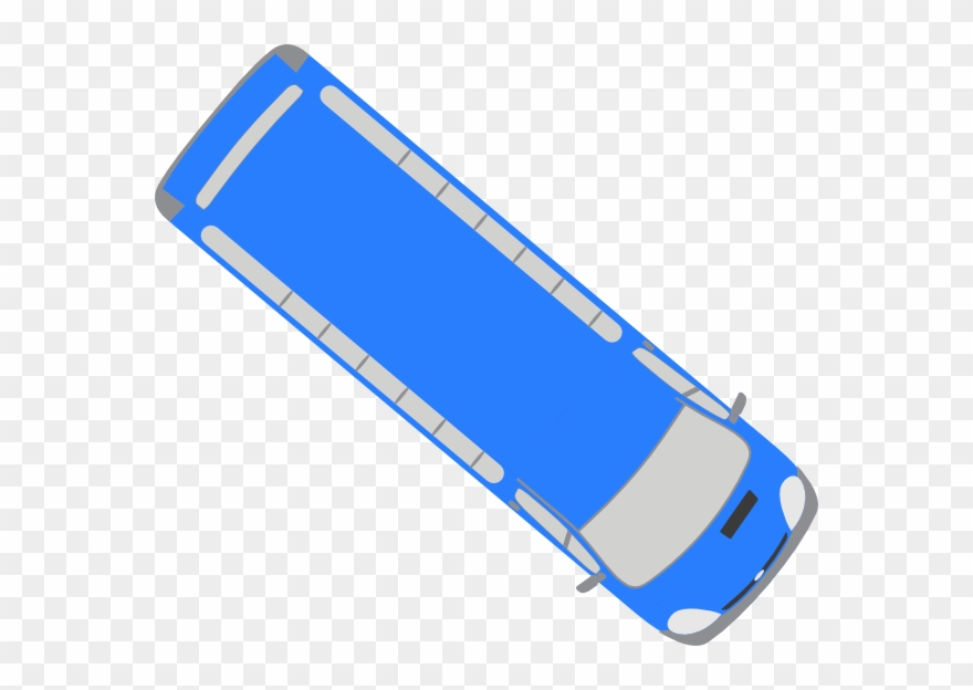 Bus Top View Icon Clipart (#1398209).