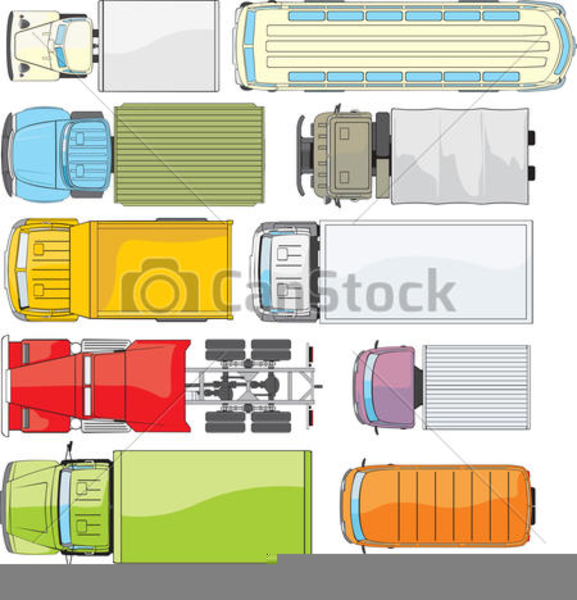 Bus Top View Clipart.