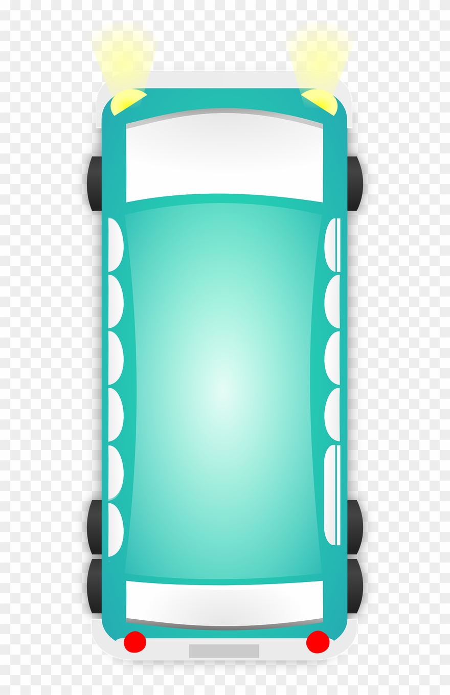 Bus Car Van Top View Turquoise Png Image Picpng.