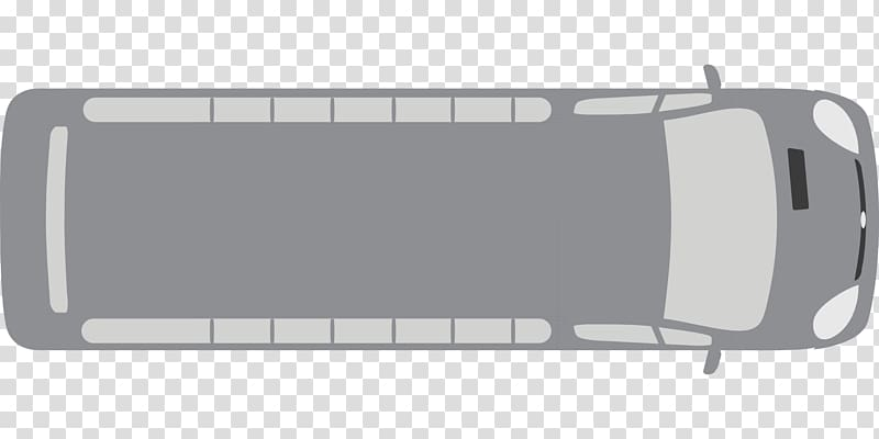 Gray bus illustration, Bus, top view transparent background PNG.