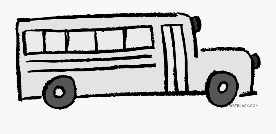 School Bus Transportation Free Black White Clipart.