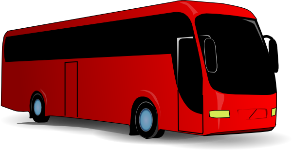 Red Travel Bus clip art Free Vector / 4Vector.