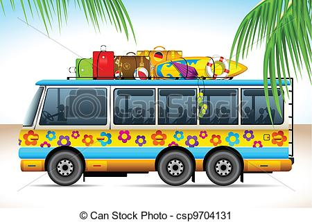 Travel bus clipart.