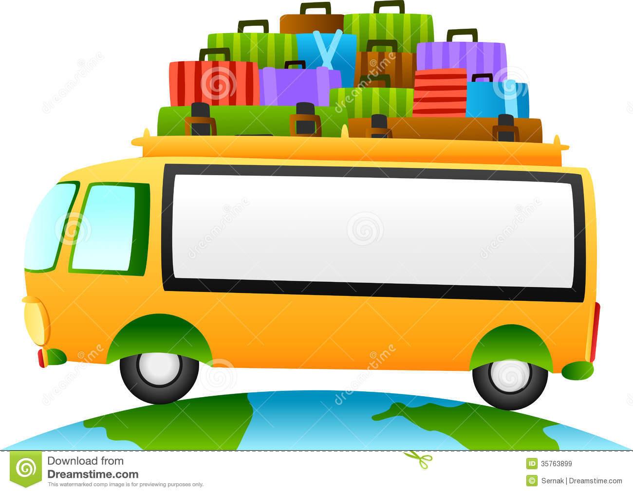 Travel bus clipart.