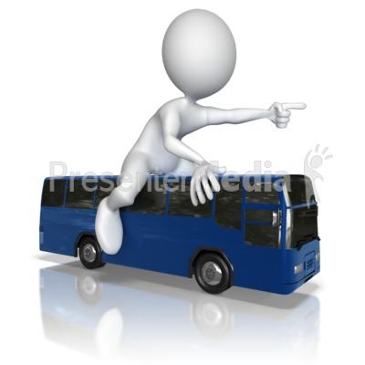 Figure Bus Travel Journey.