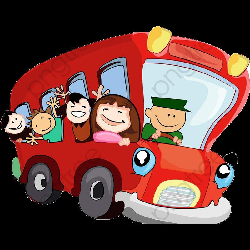 Children Travel By Bus, Travel Clipart, Bus Clipart, Children.