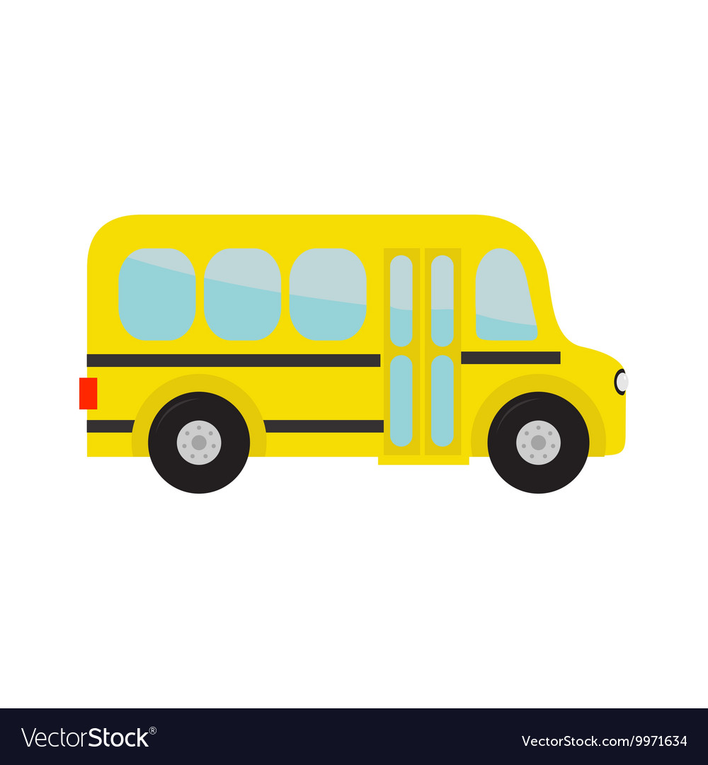Yellow school bus kids Cartoon clipart.
