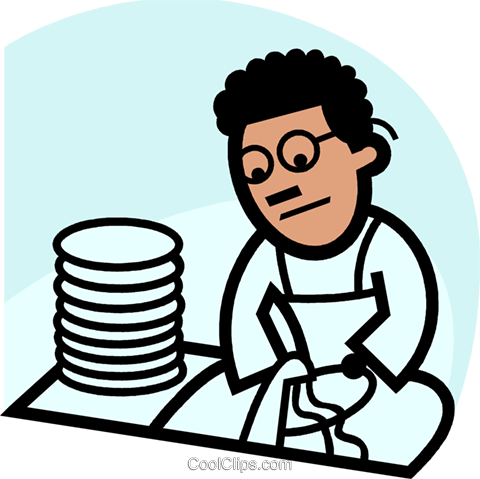 Dish Washers Royalty Free Vector Clip Art illustration.