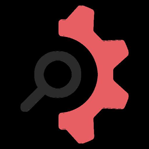 Buscar configuración icono de trazo de color.