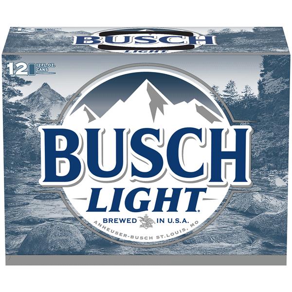Busch Light 12 Pack Cans.