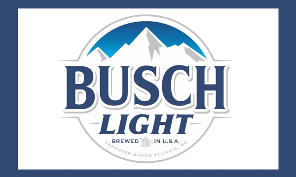3*5FT Alcohol Drinking Busch Light Bud Beer Logo Polyester Banner Flag.