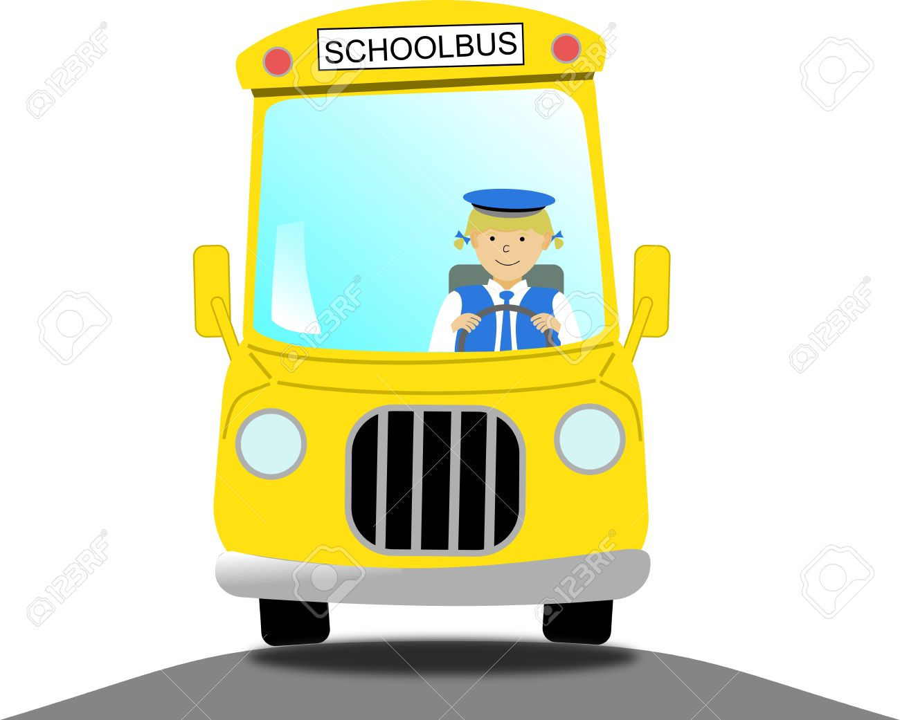 Bus driver clipart free.