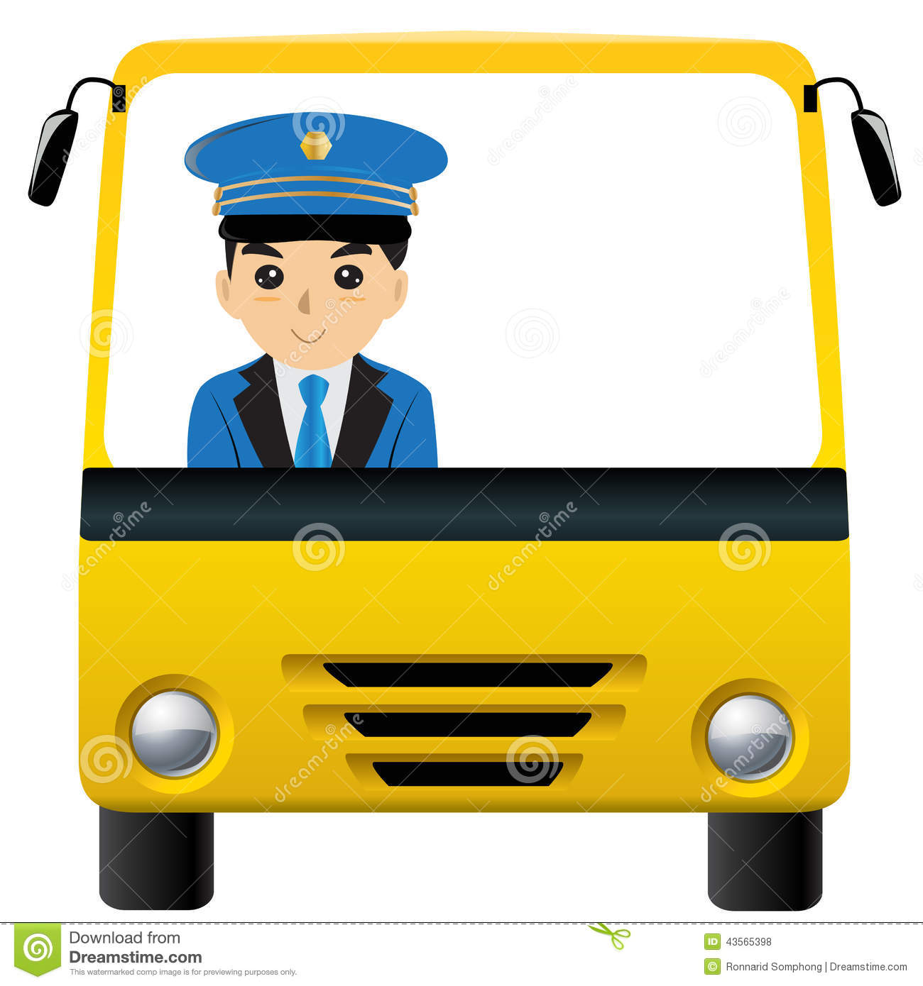 School bus driver clip art