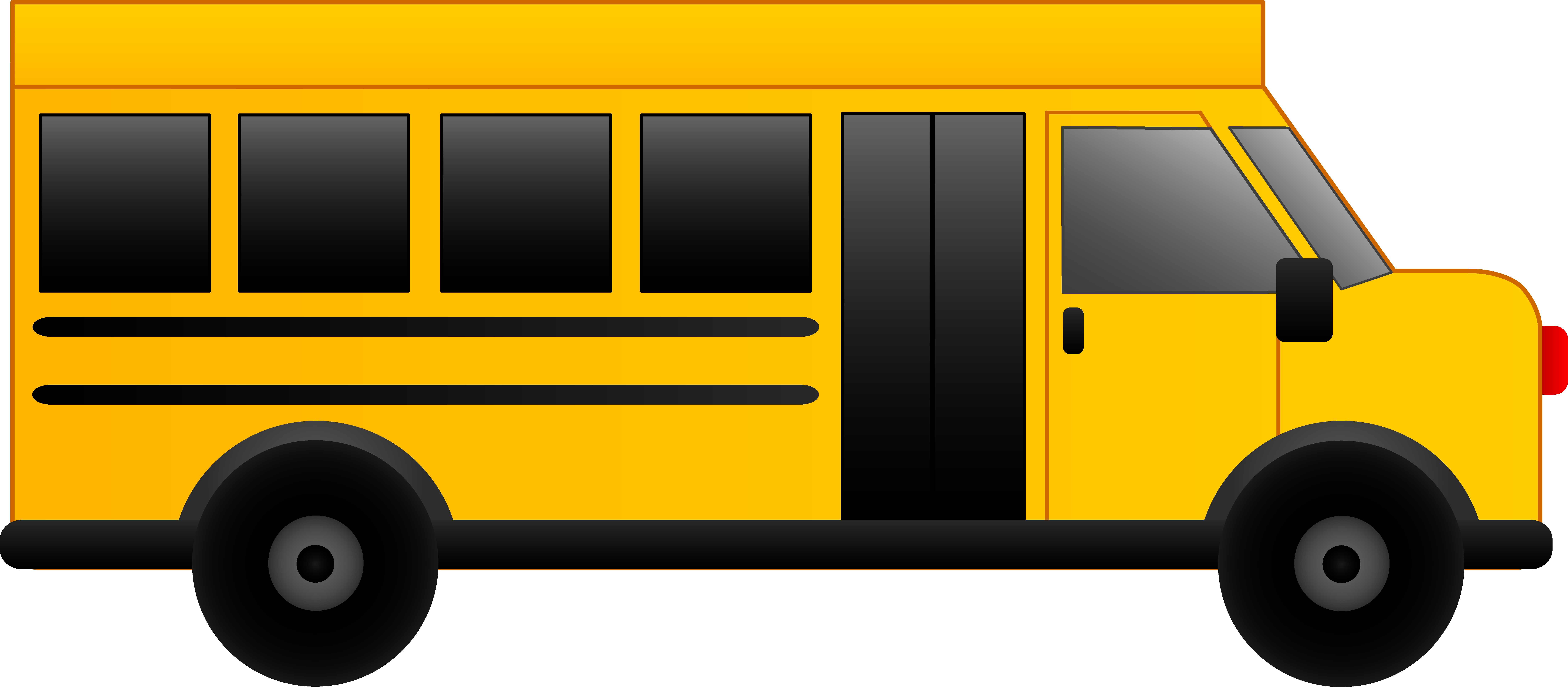 Free clipart of school buses.