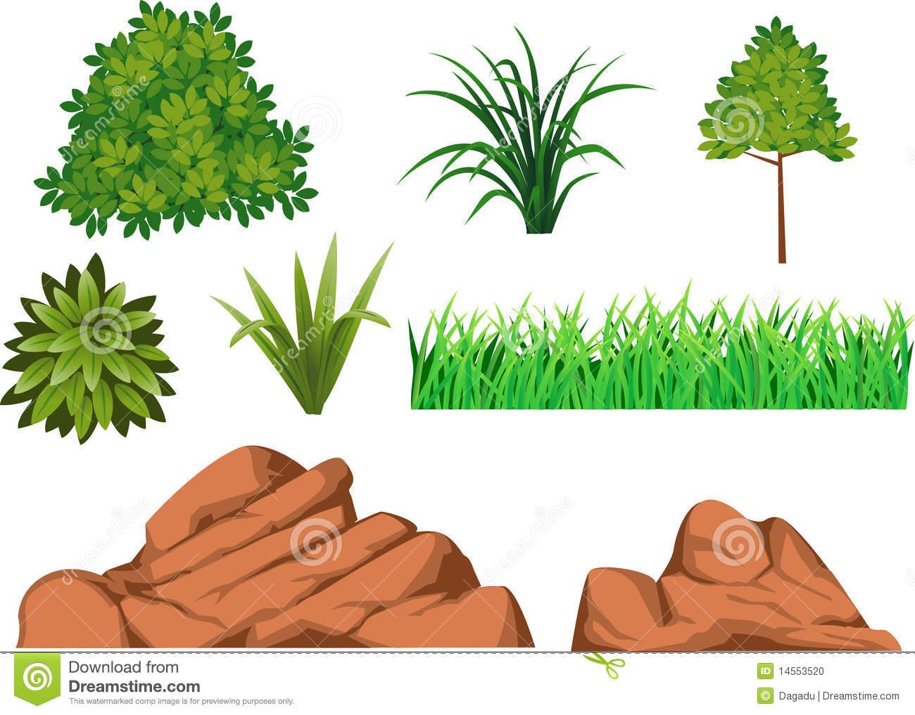 Bush grass clipart.
