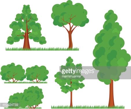 Bush Trees Grass premium clipart.