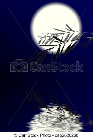 Stock Illustration of Moonlight Night.